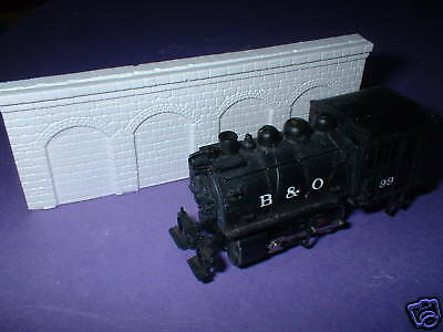 Z scale/ Z scale stone arched  wall x 4-unpainted