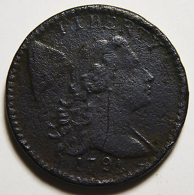 1794 Head Of 1794 Draped Bust Large Cent Scarce Coin Lot# MZ 3525