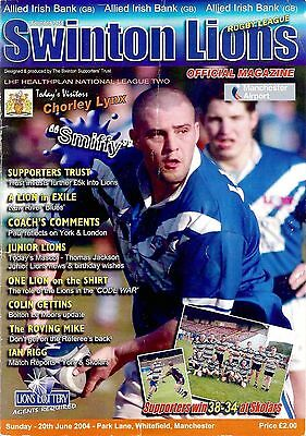 Swinton v Chorley - National League 2 - 2004