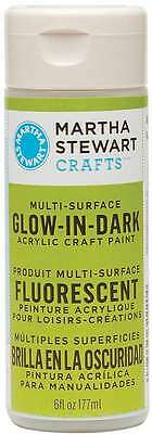 Martha Stewart Glow-In-The-Dark Paint 6 Ounces-Yellow 028995322204