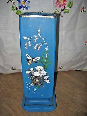 Very Nice Art Glass Vase, Looks hand Painted All Sides