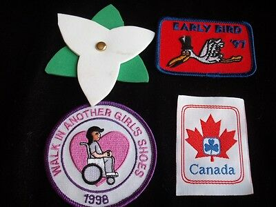 Girl Guides  Canada Patch Lot Trillium Early Bird Wheelchair Shoes Collector