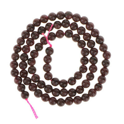 Strand of 5mm Garnet Round Gemstone Loose Beads for DIY Necklace Bracelet Making