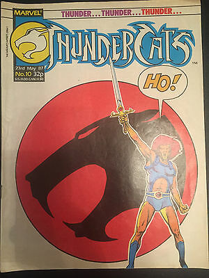 Thundercats Weekly #10 - Marvel Uk Comic - 23 May 1987 - Includes Powerpack