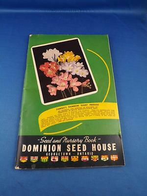 Dominion Seed House Catalog Seed And Nursery Book Georgetown Ontario Vintage