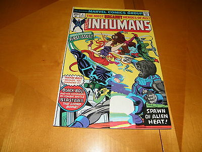 The Inhumans #1 Oct 1975 Printer Mistake Cover Not Fully Printed George Perez FN