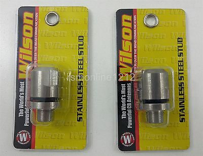 Lot of 2 Wilson 305-610 Stainless Steel Heavy Duty CB Radio Antenna Studs
