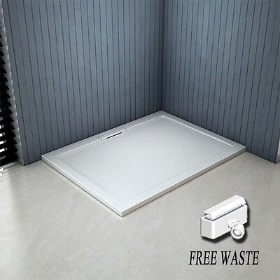 1700x800x40mm Rectangle Shower Enclosure Tray Free Hidden Waste NEXTDAY DELIVERY