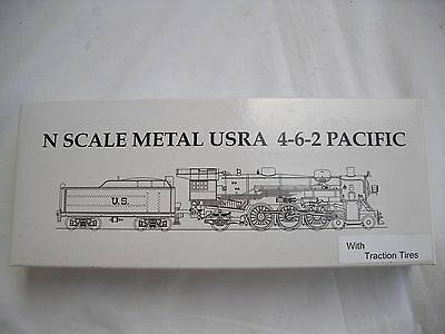 Model Power 7400 SF Metal USRA 4-6-2 Pacific Steam Locomotive Engine, N Scale