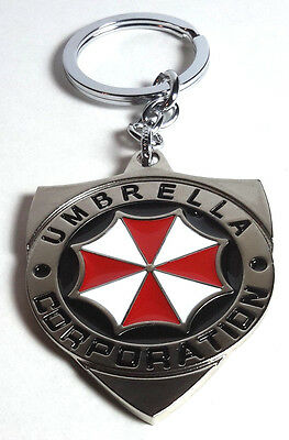 """Resident Evil Umbrella Corp  2.25"""" Stainless Steel Keychain-Mailed from USA"""