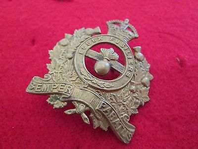WWI/WWII? British Essex Fusiliers Brass Badge - 'AS IS'