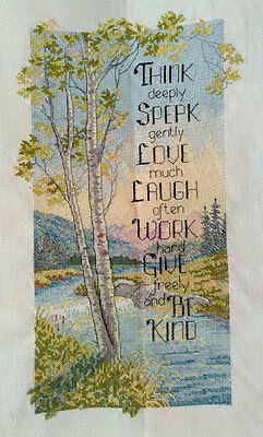 New Finished Completed Cross Stitch - Nature - L117