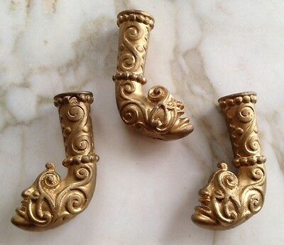 Victorian Rare Brass Furniture Ornate Art Deco Monster / Devil Face Brass Feet