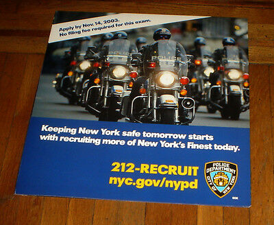 Nypd 2003 Recruitment Nyc Subway Poster