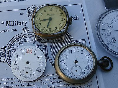 Trench cushion style watch small pocket parts repair projects dial cases balance