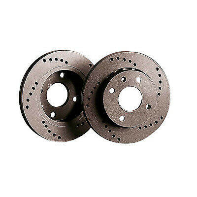 Black Diamond Cross Drilled XD Front Uprated Brake Discs - KBD215