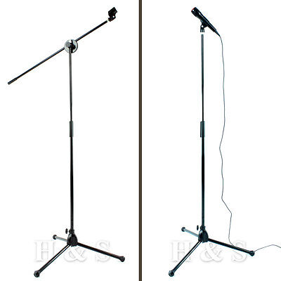 High Quality Professional Boom Microphone Mic Stand Holder Adjustable + 2 Clips