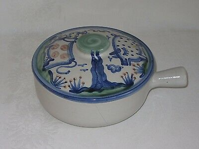 M A HADLEY Vtg Ceramic Art Pottery Covered Casserole Serving Tureen Pig Cow