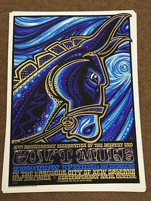 K) Gov't Mule New Orleans Signed Numbered Allen Woody Tribute Concert Print