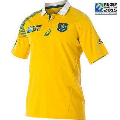 Asics Wallaby Fan Short Sleeved Mens Rugby Jersey Rugby World Cup 2015 Shirt
