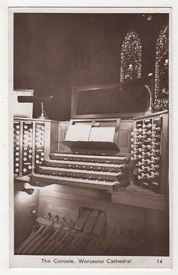 The Console, Worcester Cathedral Organ RP Postcard, B596
