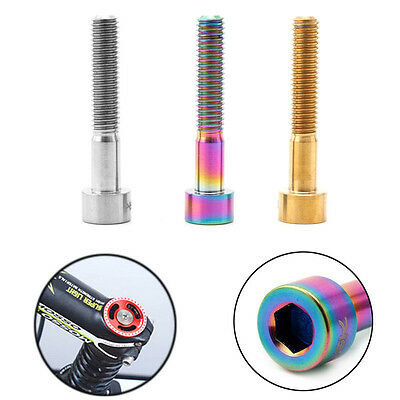 M6x35mm Cycling Bike Headset Bolts Titanium Bicycle Stem Top Cap Bolt Screw Part