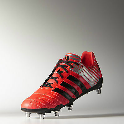 Adidas Regulate Kakari Wide Fit Soft Ground Boots Red Black Mens Solar Red
