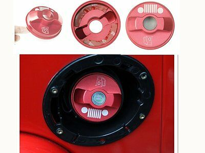 Red Inner Fuel Filler Cover Gas Tank Cap For Jeep Wrangler JK Unlimited 2/4 Door