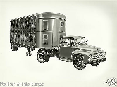Ford F 611 Articulated Truck Original Photographic Sketch Excellent Condition