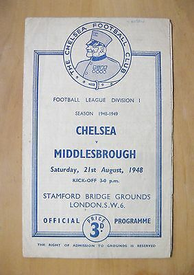 CHELSEA v MIDDLESBROUGH 1948/1949 *Good Condition Football Programme*