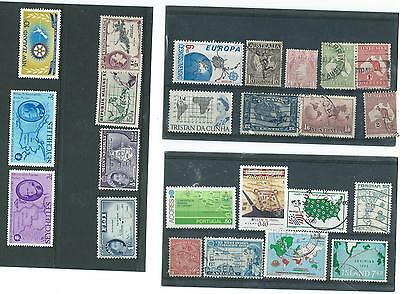 Maps/globes On Stamps World Collection