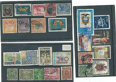 Ecuador  Used Stamp Collection