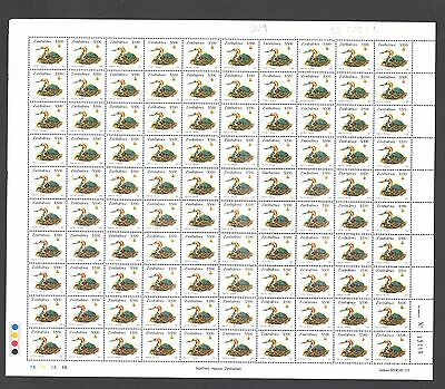 ZIMBABWE 2003 HERON Bird  Def Sheet 1A $500 Reprint R2 No 13119