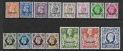 Morocco Agencies  Sg 261/75  1949 Gvi Tangier Set Of 15  Fine Mounted Mint
