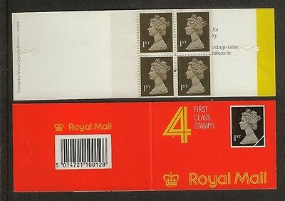 GB Stamps: Decimal Machin Barcode Booklet HB1.