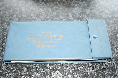 Vintage Rootes New Humber Colour Schemes Book
