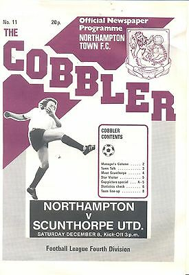 NORTHAMPTON TOWN v SCUNTHORPE UNITED Division four 8 December 1979