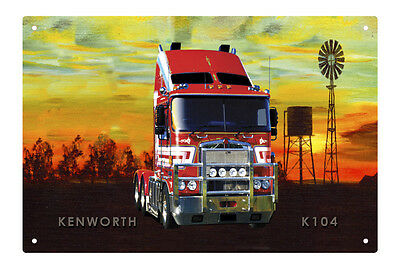 KENWORTH TRUCK K104 TIN SIGN 20 X 30 cm.  KENWORTH K104 TIN SIGN 20X30 cm  small