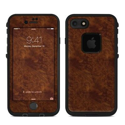 Skin for LifeProof FRE iPhone 7/8 - Dark Burlwood - Sticker Decal