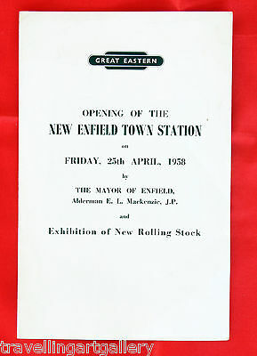 British Railways Great Eastern Opening Of New Enfield Town Station 1958