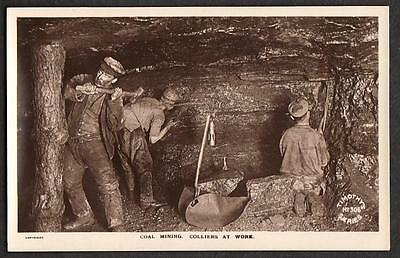 Real Photo Postcard Pentre Coal Mine Mining Colliers At Work Glamorgan Wales