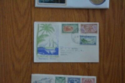 Tokelau Islands First Stamps Set 1948 Fdc To Vancouver Canada