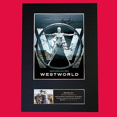 WESTWORLD Signed Autograph Mounted TV Series Photo PRINT A4 613