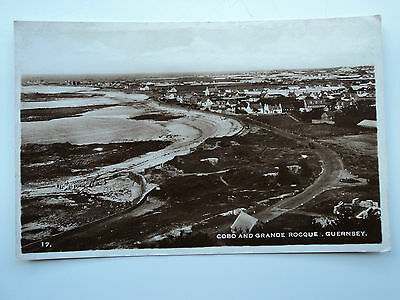 B.B. London B&W RP PC Cobo and Grande Rocque. Guernsey. Posted 1948.
