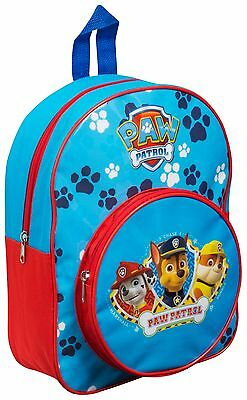 Paw Patrol Junior Backpack School Bag With Pocket - Boys Kids Blue Gift Present