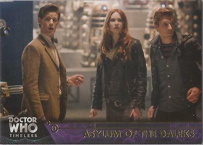 """Doctor Who Timeless - GOLD Parallel 1/1 Base Card #83 """"Asylum of the Daleks"""""""