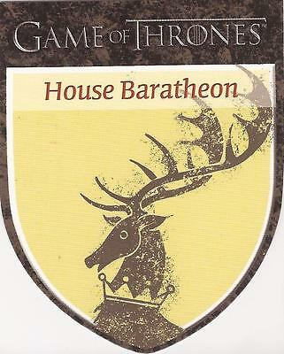 "Game of Thrones Season 1 - H1 ""Baratheon"" Houses Chase Card"