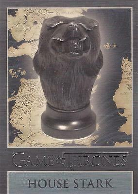 """Game of Thrones Season 3 - """"Stark"""" Embossed Map Marker Sigil Chase Card MM5"""