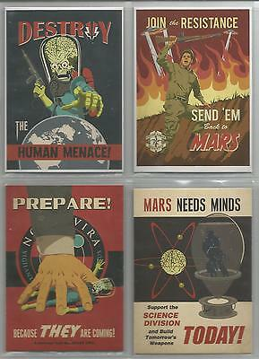 """Mars Attacks Invasion - """"Join The Fight"""" Set of 4 Chase Cards #1-4"""