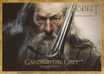"The Hobbit - RARE Denny's Limited Edition ""Gandalf the Grey"" Gold Bordered Card"